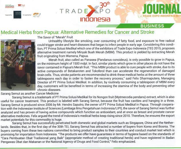 PT Prima Solusi Medikal berpartisipasi dalam Trade Expo Indonesia Oktober 2015